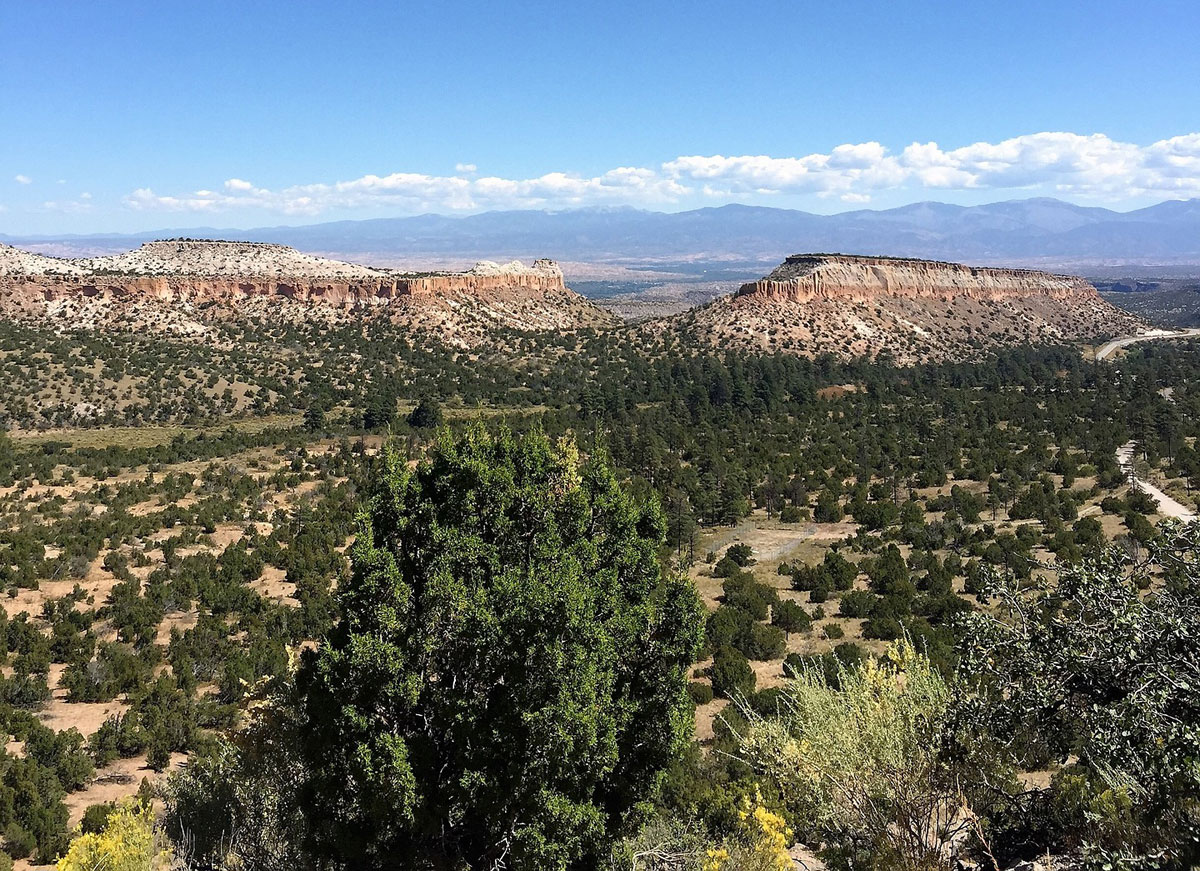 The view toward Los Alamos, New Mexico