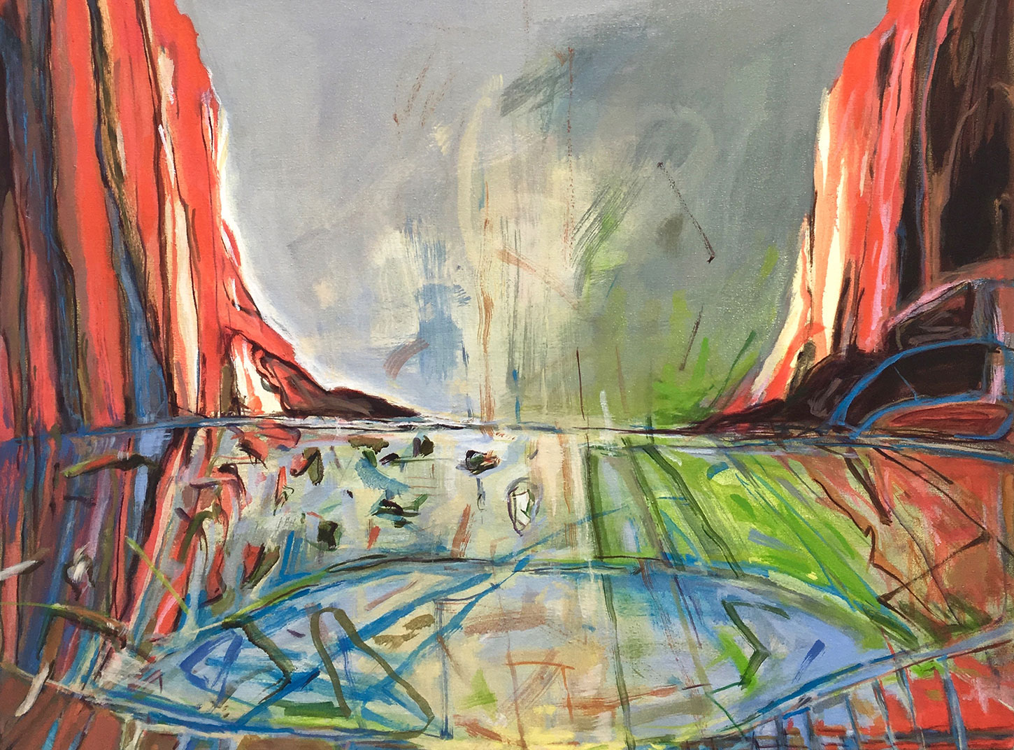 Dams, Heroic and Doomed: Paintings by Judith Belzer