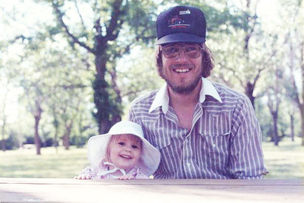 Stephanie Anderson and father.