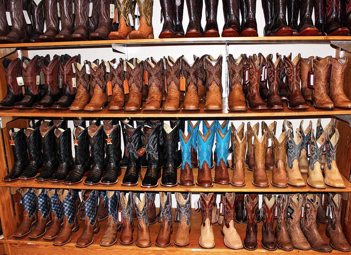 Boot wall at Capriola's