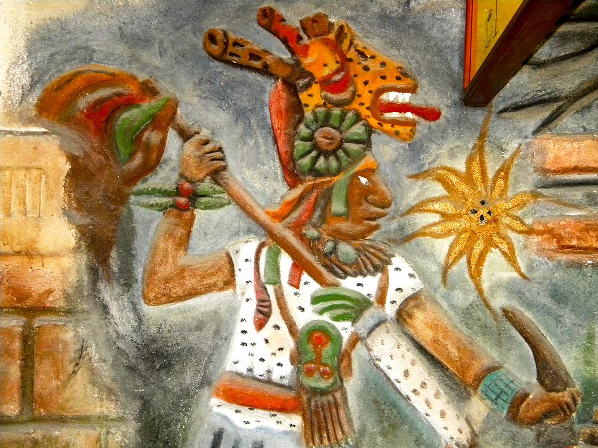 Mayan bas relief