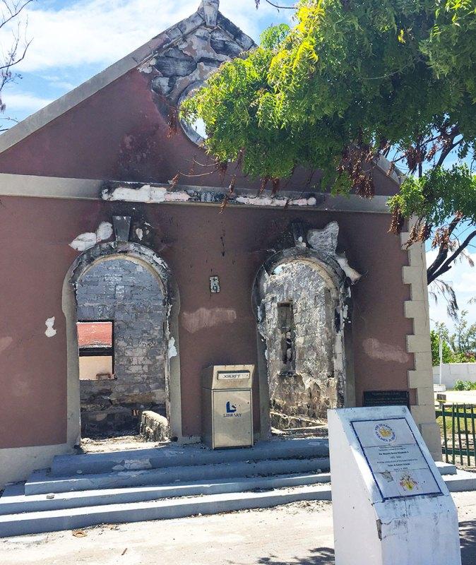 Old, burned church