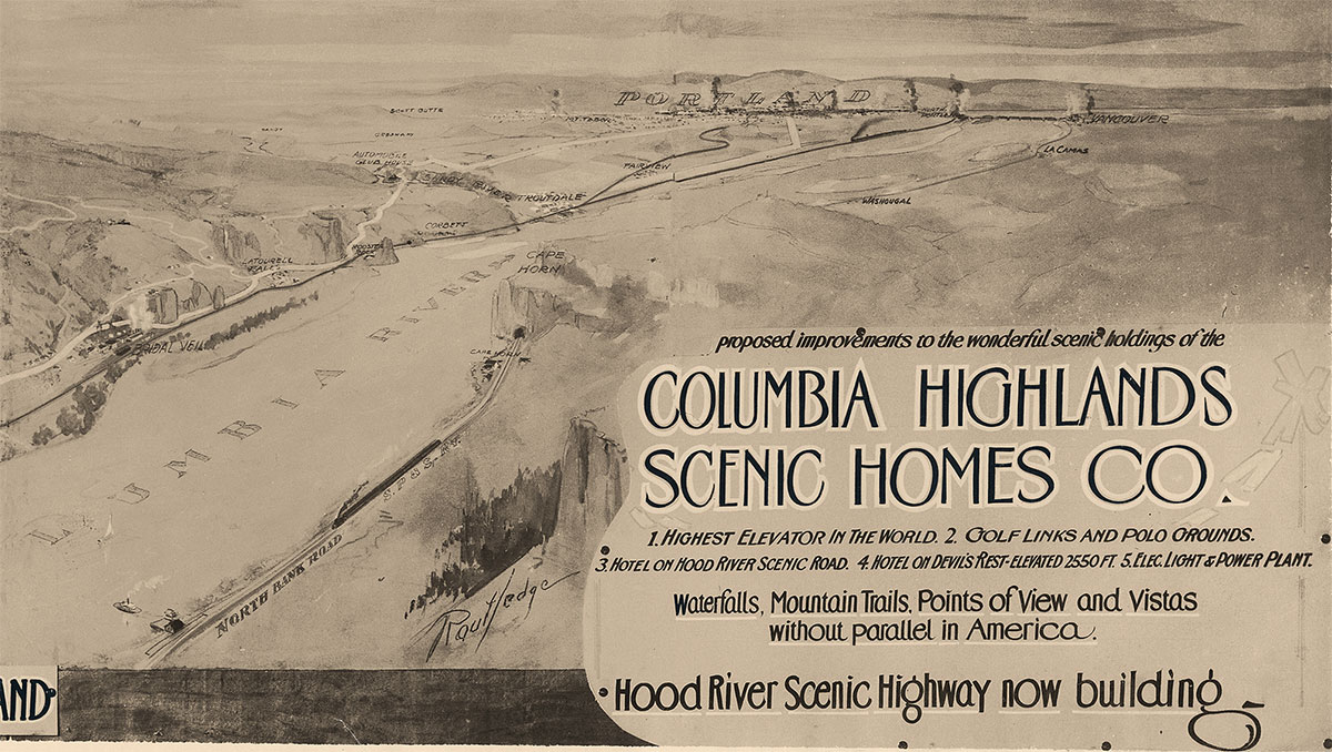 Columbia Highlands Scenic Homes Co. vintage advertisement.