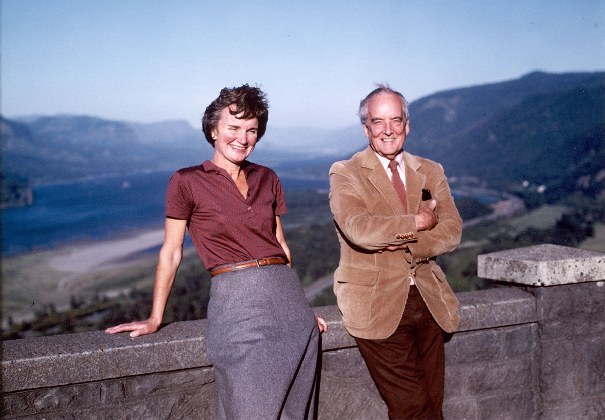 Nancy Russell and John Yeon, 1980