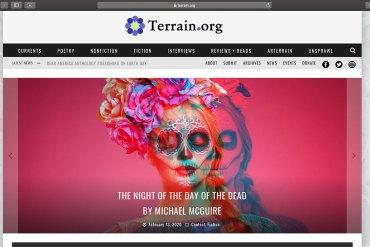 Terrain.org home page