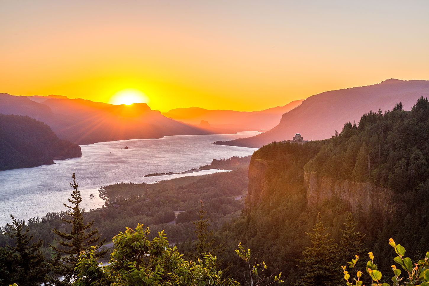 Columbia River at sunrise
