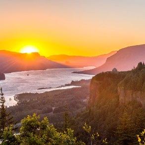 Columbia River at sunrise