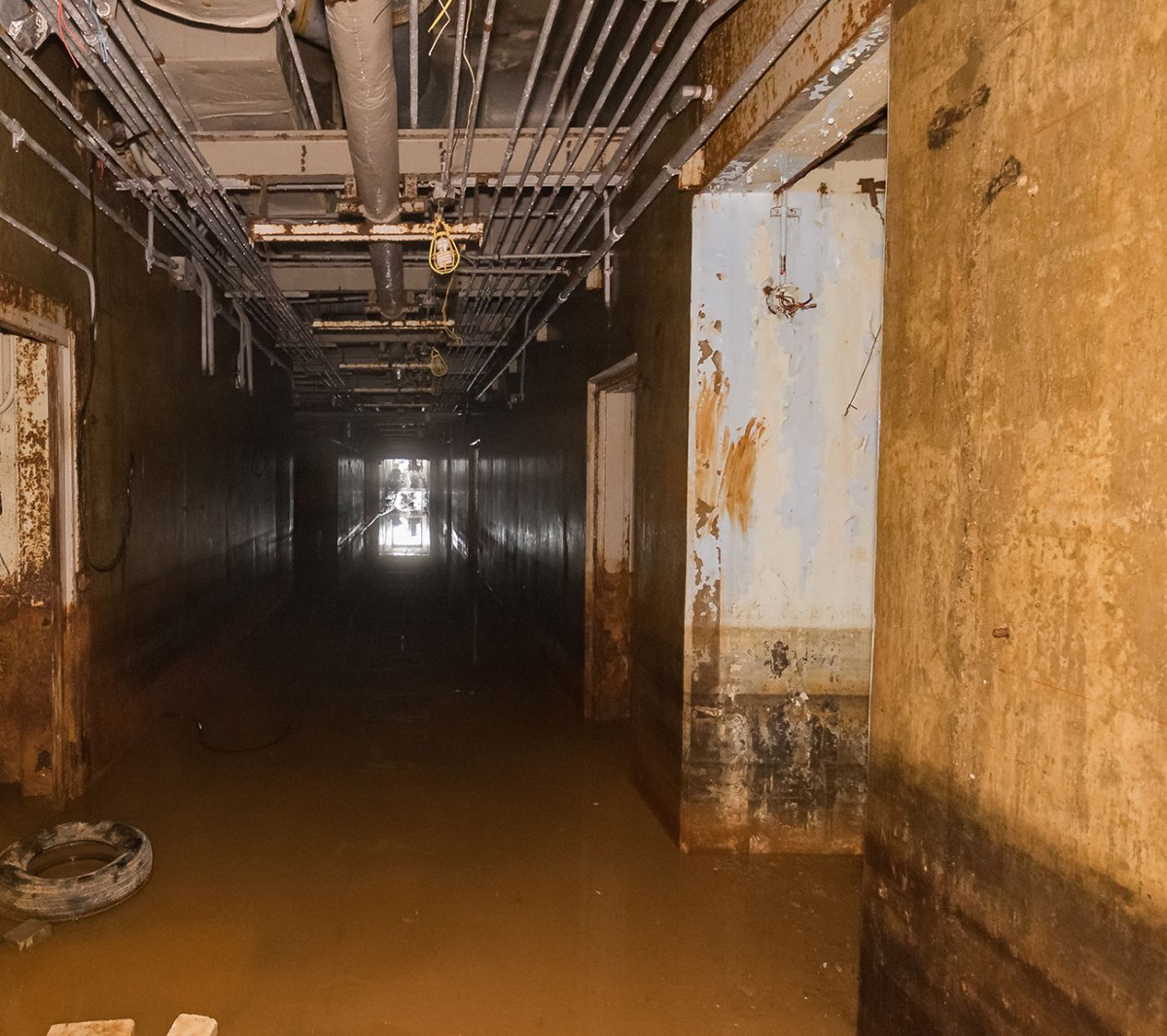 Water in the hallway
