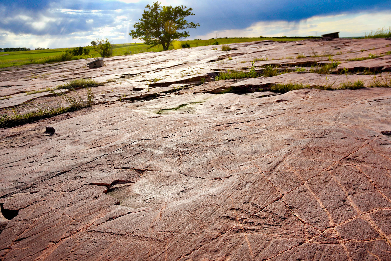Jeffers Petroglyphs. Photo coutesy Minnesota Historical Society.