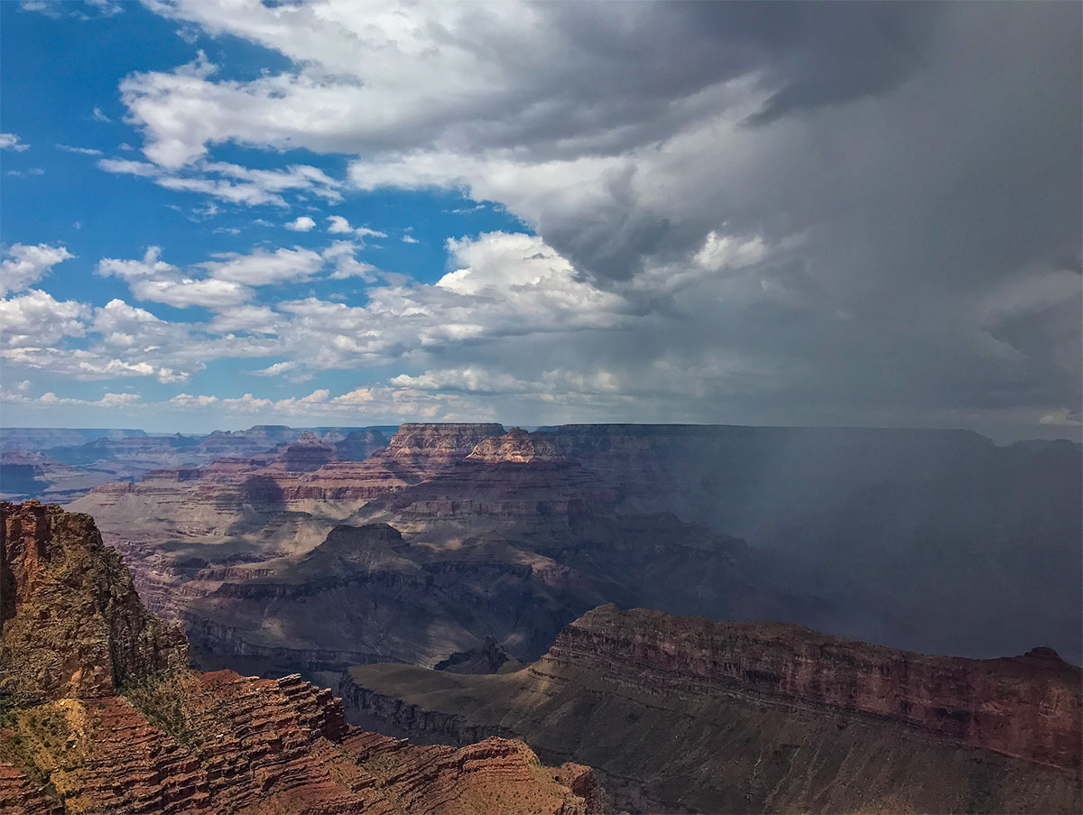 Monsoon over the Grand Canyon.