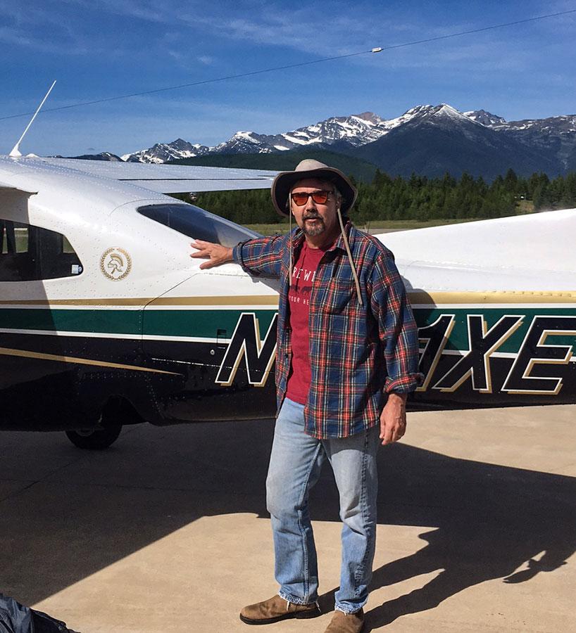 David Gessner and Ecoflight plane