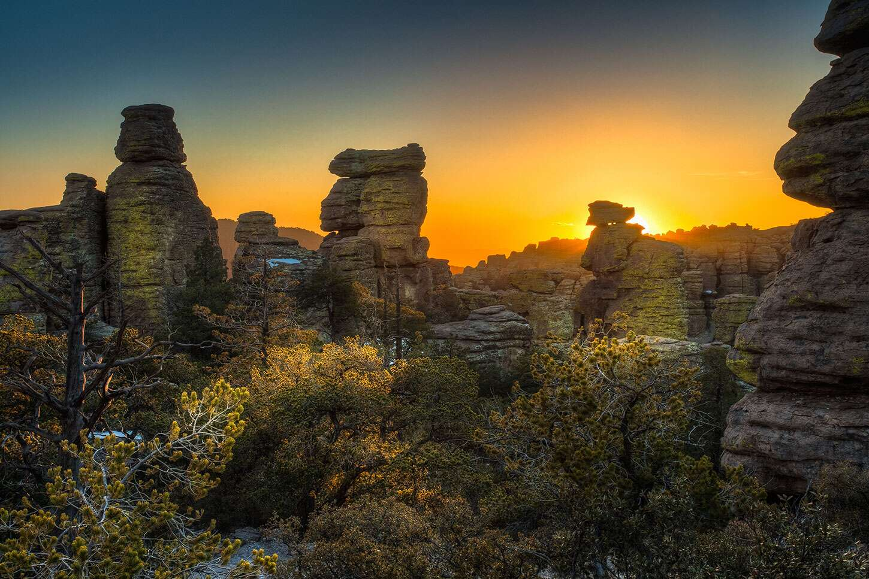 Chiricahua National Monument at sunset