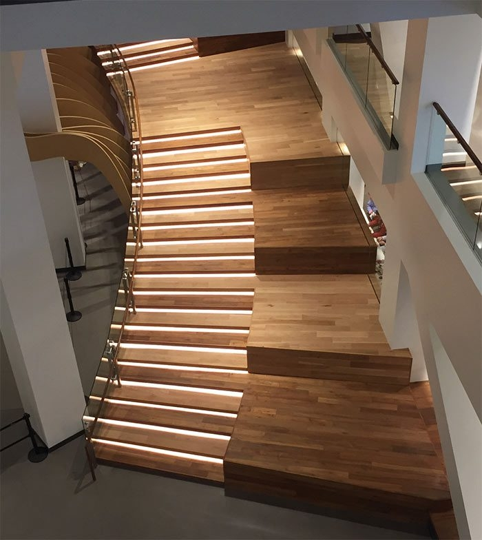Rethinking The Humble Stair Tread 8 Reclaimed Wood Stair Tread   Distressed Wood Stair Treads   Unfinished   Barn Wood   Diy   Commercial   Adhesive Padding 31 Wide Tread Single 10 Deep