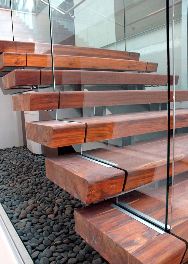 Rethinking The Humble Stair Tread 8 Reclaimed Wood Stair Tread | Solid Wood Stair Treads | Stairway | Commercial | Standard Length 48 | Domestic Timber Stair | Stainless Steel Anti Slip Stair