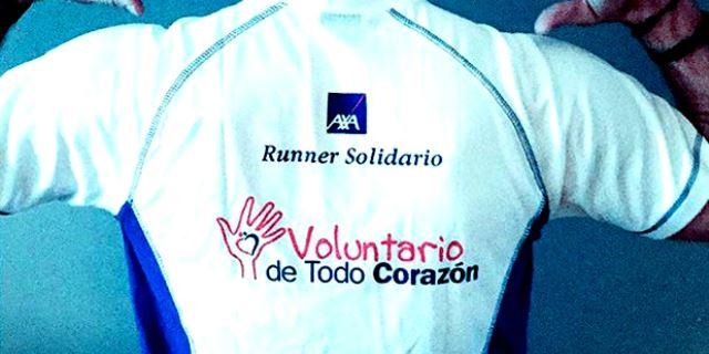 Camiseta del Club de Runners Solidarios de AXA de Todo Corazón