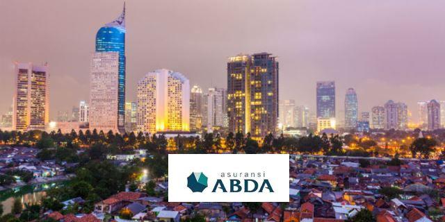 Foto de archivo de Indonesia con el logo de la compañía ABDA
