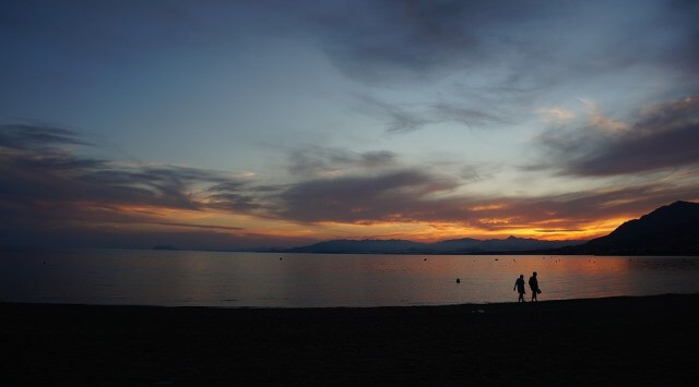 Amanecer en playa del Gachero (Mazarrón)