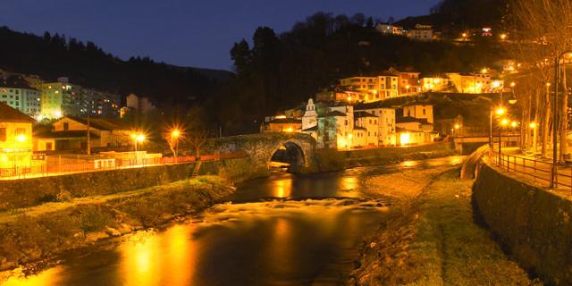 El río Narcea, situado en Cargas del Narcea