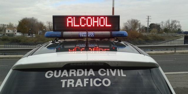 control de drogas y alcohol en el que gran cantidad de conductores ha dado positivo