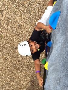 Boy Climbing Rock Wall Kid Course
