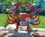 Crab sculpture Baltimore