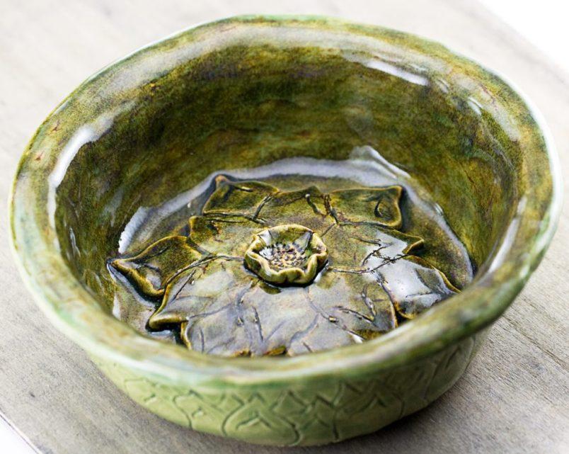 ceramic lotus bowl