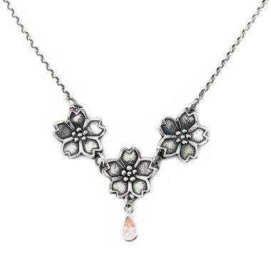 Sakura Cherry Blossom Necklace-Terra Rustica Jewelry