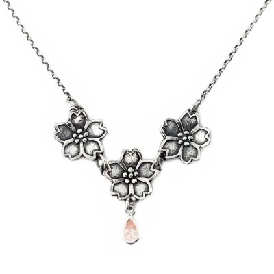 Sakura Cherry Blossom Necklace-Terra Rustica Jewelry