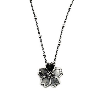 Dainty Sakura Cherry Blossom Necklace-Terra Rustica Jewelry