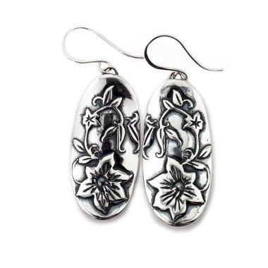 Hibiscus Flower Earrings-Terra Rustica Jewelry