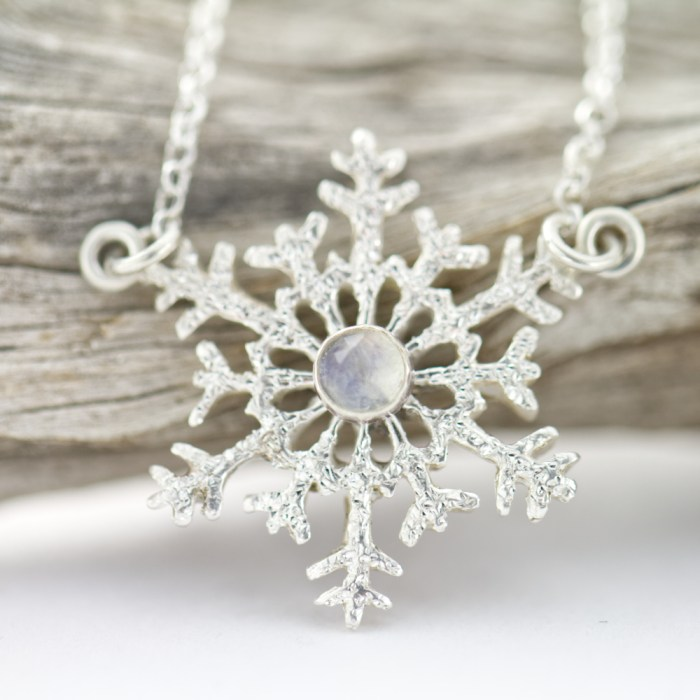 The First Snowfall Necklace-Terra Rustica Jewelry