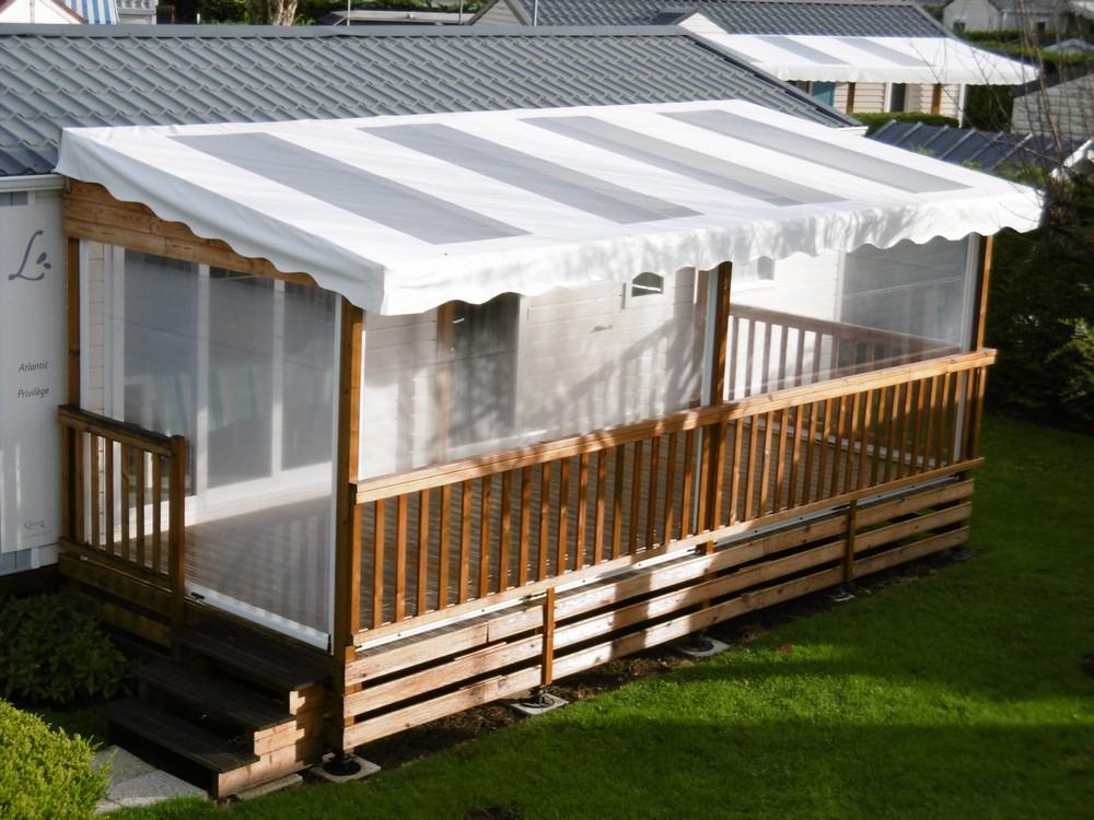 terrasse couverte bois pour mobil home