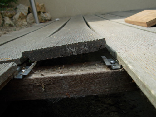 lames de terrasse pour clips invisibles