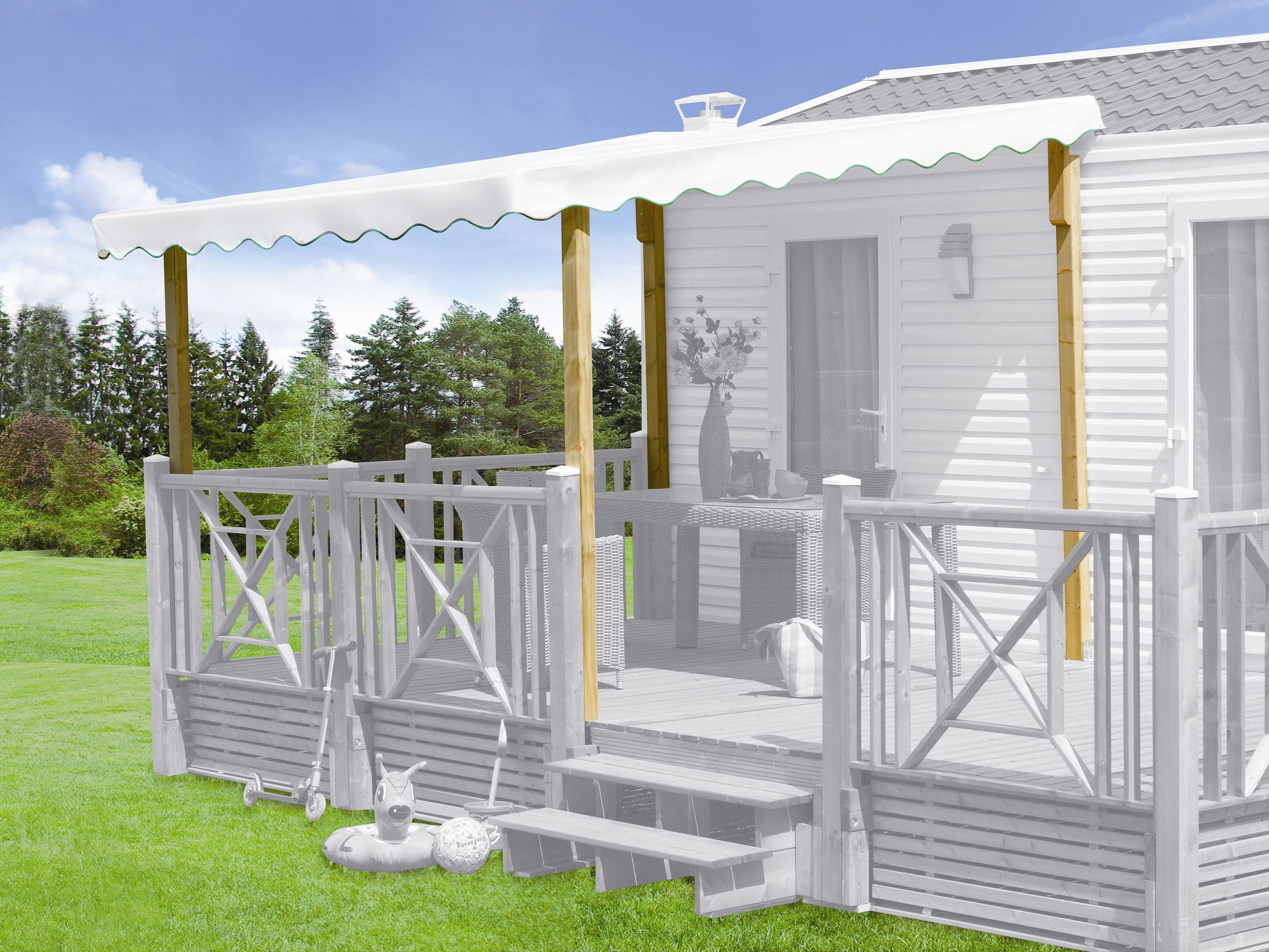 kit couverture terrasse mobil home made