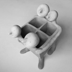 Sculpture 3 dhilde Segers | Hilde Segers | 'Le monde des insectes' - Tasse papillon jaune | Produit | 15,00€ | 7030 | Tasse en grès blanc | Circaterra Céramique - Hilde Segers | Terre et Terres | 10 décembre 2020