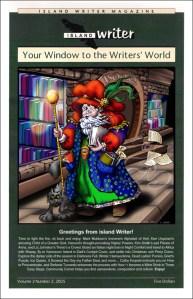 Island Writer Magazine Cover: Book Store Wizard