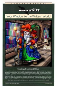 Island Writer Magazine Cover: Book Store Wizard
