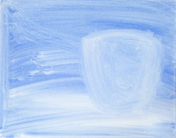 """Ghost"" (c)2012, Acrylic on Canvas, 12″ x 9″"