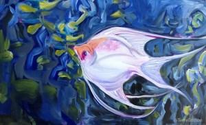 """Angelfish"" (c)2013, by Terre Britton"