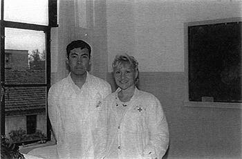 Catherine-Isaure Bousquet et l'un de ses professeur en 1993