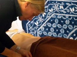 Séance d'acupuncture