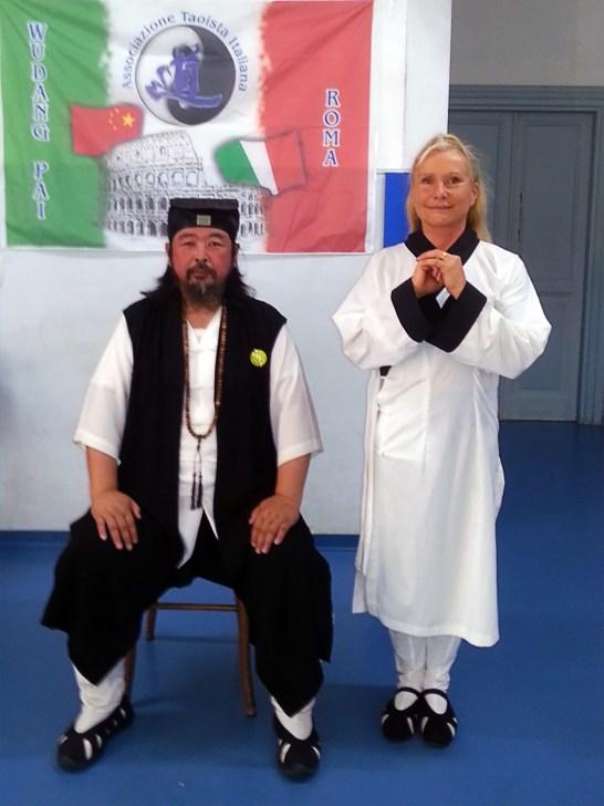 Grand Maître You Xuan De et Catherine-Isaure Bousquet à Rome en septembre 2016
