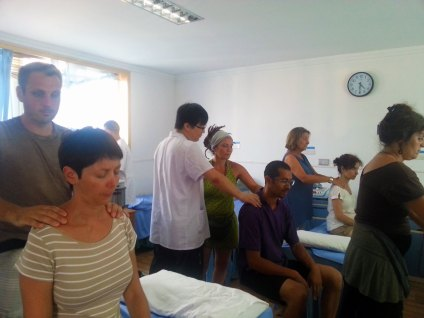 Cours de massage Tuina en Chine avec les étudiants de Terre d'Asie, août 2016