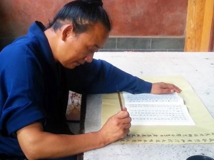 Calligraphiste en Chine