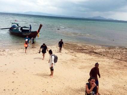 Arrivée sur l'île