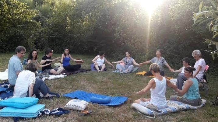 La méditation en stage d'été