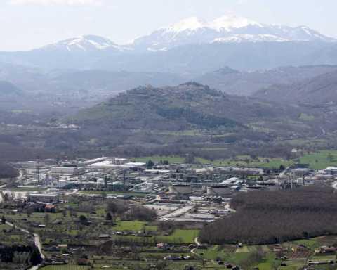 Area industriale di Viggiano, dove si lavora il petrolio in Basilicata