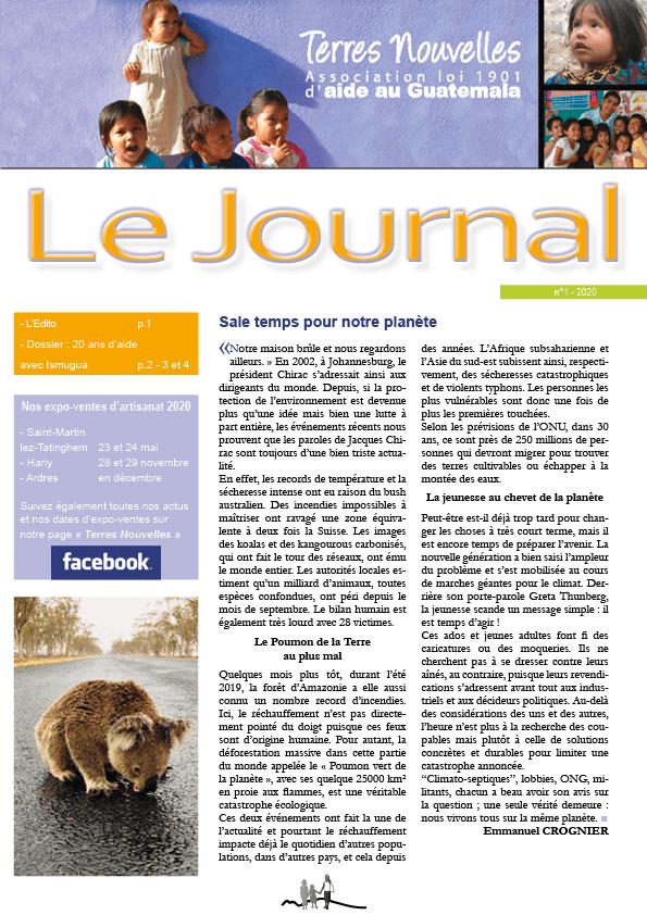 Journal Terres Nouvelles 2020-1