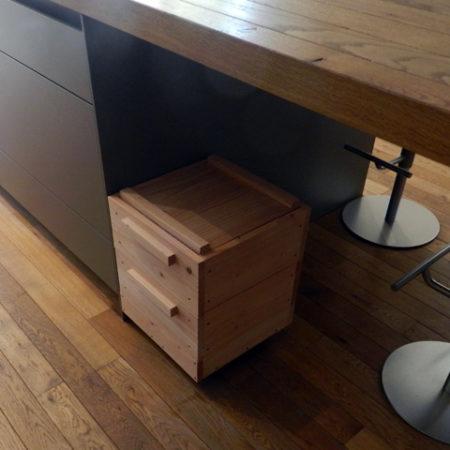 lombricomposteur d'appartement - boite à terre 2 plateaux - sous table