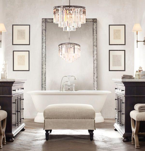 como decorar un espacio pequeño. espejo bañera